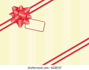 * Gift wrapped with ribbon, bow and tag