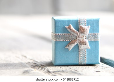 gift wrapped with ribbon, vintage style
