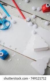 gift wrapping and greeting card, handmade Christmas
