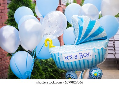 Gifts and decorations for baby shower