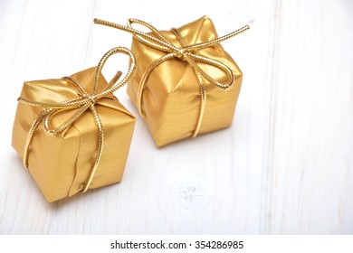 Gifts on the white background