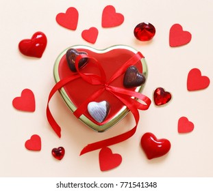 Romantic Symbols Of Hearts And Chocolate Candy Valentine S Day Ez