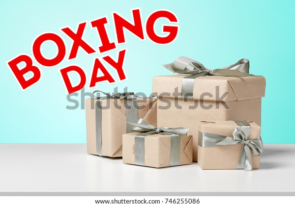 gifts with text boxing day
