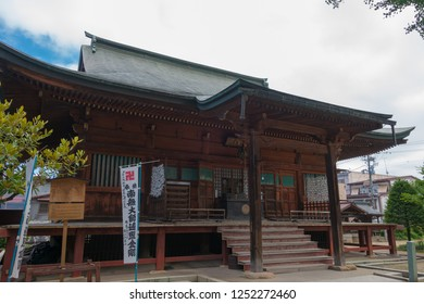 Gifu, Japan - Aug 02 2017- Hida Kokubun-ji Temple. a famous historic site in Takayama, Gifu, Japan.