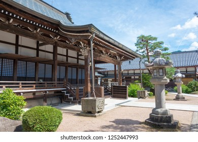 Gifu, Japan - Aug 04 2017- Enkoji Temple at Hida Furukawa Old Town. a famous historic site in Hida, Gifu, Japan.