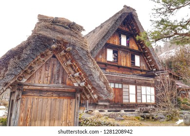 GIFU,JAPAN-29 FEB 2018: Wada house is the largest gassho style house in Shirakawa-go ,They are famous for their traditional gassho-zukuri house,Gifu Japan