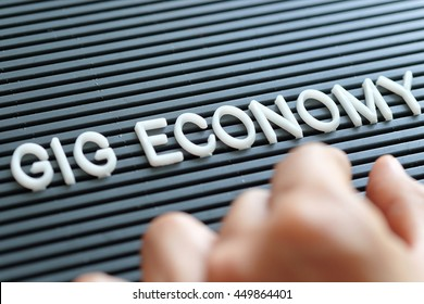 Gig Economy concept background