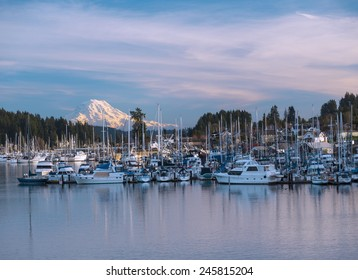 Gig Harbor on Winter Day. Gig Harbor, WA USA - January, 20 2015. Gig Harbor is a very popular attraction on Puget Sound.