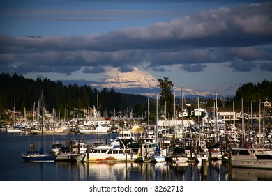 Gig Harbor  With view of Mt. Rainer in Washington