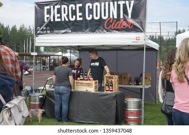 Gig Harbor, Washington, USA 9/29/2018 Cider Swig Festival at Sehmel Homestead Park, Penmet Parks, hosted by The Greater Gig Harbor Foundation on a cool fall day