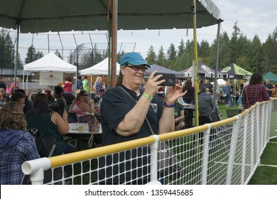 Gig Harbor, Washington, USA, 9/29/2018 The annual Cider Swig Festival hosted by The Greater Gig Harbor Foundation, Sehmel Homestead Park, Penmet Parks, on a cool fall day