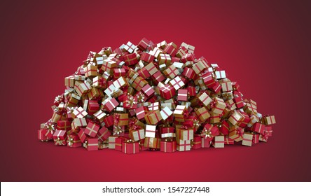 A Gigantic pile of Christmas Gifts