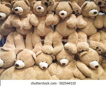Gigantic plush bears on display for sale