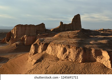 The gigantic rock formations on the Lut Desert - Dasht-e-Lut the hottest and driest places on the planet, locate near Kerman,  Iran.
