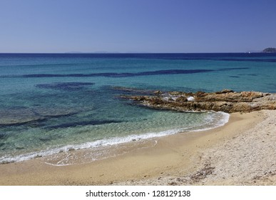 Gigaro beach near the city La Croix Volmer, Cote d'Azur, French Riviera, Provence, Southern France, Europe