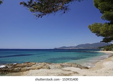 Gigaro beach near the city La Croix Volmer, Cote d'Azur, Cote dAzur, French, Riviera, Provence, Southern France