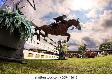 """GIJON, SPAIN   Aug 2014:  Participants in the """" International Jumping Competition CSIO 5 Gijon 2014""""  Spain, from July 31 to August 4"""