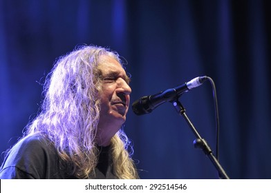 GIJON, SPAIN - JUNE 30: Spanish rock singer Rosendo with more than 40 years on stage in June 30, 2015 in Gijon, Spain. Concert in Metropoli Festival in Gijon, Spain.