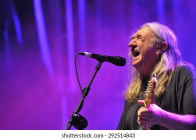 GIJON, SPAIN - JUNE 30: Spanish rock singer Rosendo with more than 40 years on stage in June 30, 2015 in Gijon, Spain. Concert in Metropoli Festival in Gijon, Spain.