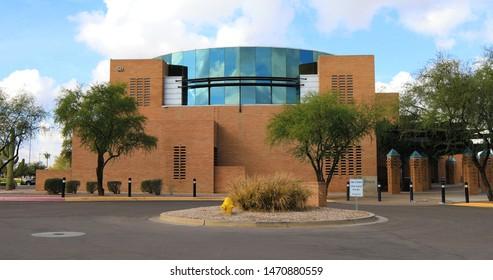 GILBERT, ARIZONA/UNITED STATES- JANUARY 16, 2017: A View of Gilbert Town Hall in Gilbert, Arizona