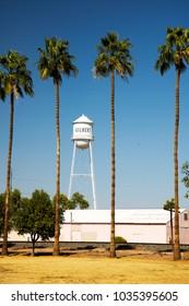 Gilbert Water Tower and mural in Gilbert, Arizona