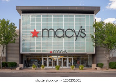 Gilbert,AZ/USA - 10.17.18:   Macy's department store stock soared the first eight months of the year, posting a 60% gain. But shares have fallen 24% since August.