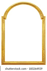 The gilded wooden frame mirrors, tapestries and paintings