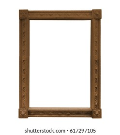 Gilded wooden frame for a picture