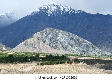 Gilgit, PAKISTAN APRIL 13: Karakoram mountain range on April 13, 2014 in Gilgit, Pakistan.