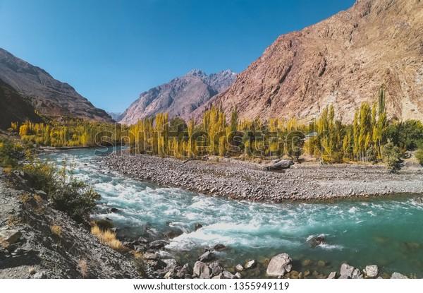 Gilgit river Phander valley