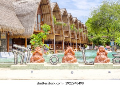 Gili Air Island in the Indian Ocean. 03.01.2017 The hotel and the surrounding area. Eco-friendly island.