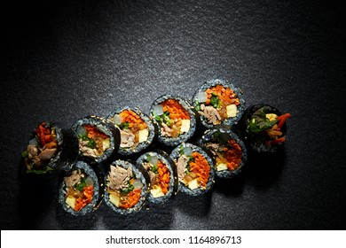 Gimbap, Korean rollled sushi