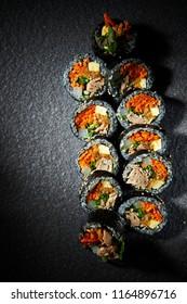 Gimbap, Korean rollled sushi