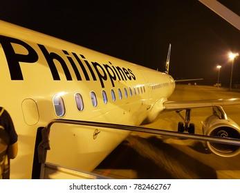 gimhae South korea | 27 May 2016] Before boarding Philippine aircraft Gimhae Airport Kimhae South korea