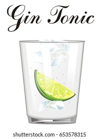 gin tonic cocktail with his name