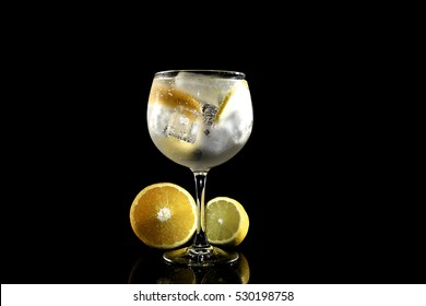 Gin Tonic with lemon & orange