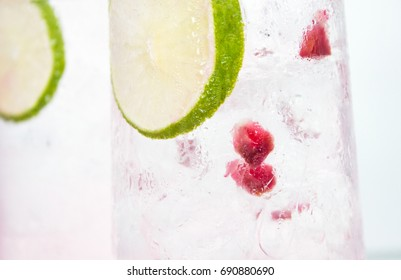 Gin Tonic Lime and Pomegranate