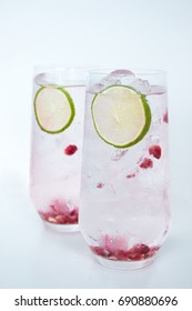 Gin Tonic Pomegranate Lime
