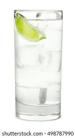 Gin and Tonic or Soda on White
