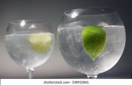 Gin Tonics with Lime