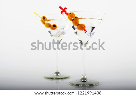 Gin Vermouth Glass On White Background Stock Photo (Edit Now