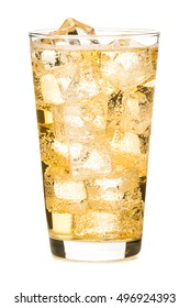 Ginger Ale Cocktail on white