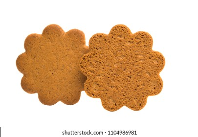 ginger biscuits isolated on white background