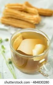 Ginger drink food herb juice  fresh asia