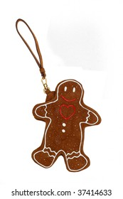 ginger man keychain isolated on white