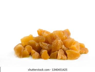 ginger slices isolated on white