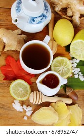 Ginger tea with lemon and honey delicious