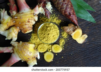The Ginger (Zingiber officinale) The roots are used as a cure for male impotence, to relieve headache, and consumed when suffering from the common cold. Ginger produces a hot, fragrant kitchen spice.