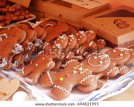 Gingerbread Biscuits Traditional Christmas Cookies Stock Photo Edit