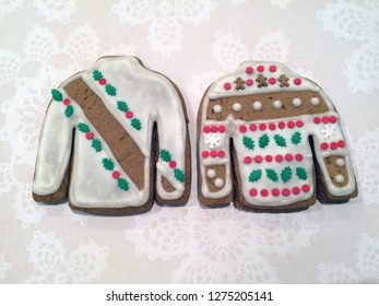 Gingerbread Christmas sweater cookies